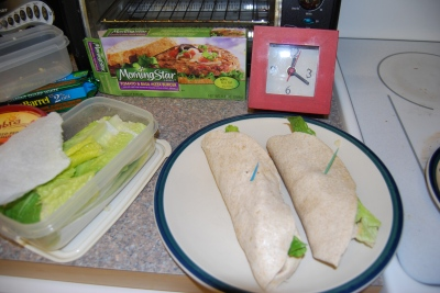 5 minute MorningStar Burritos Done!