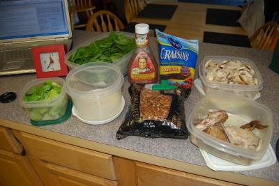 Wannabe Salad Ingredients