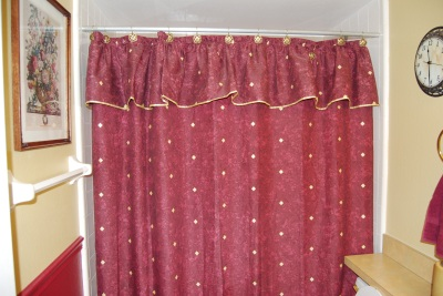 90s shower curtain