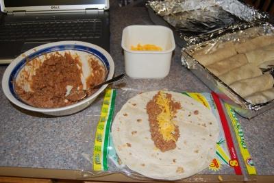wet burrito prep