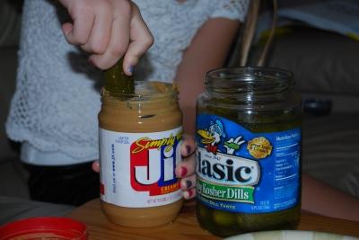 peanut butter pickles