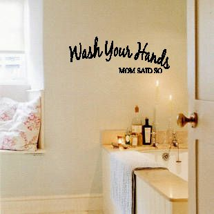 wall art wash your hands