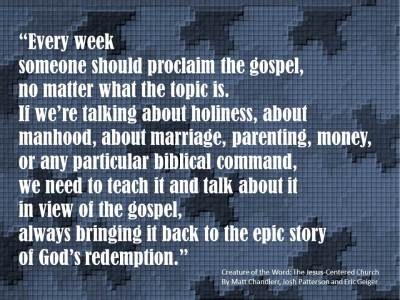 Creature of the Word - every week the gospel