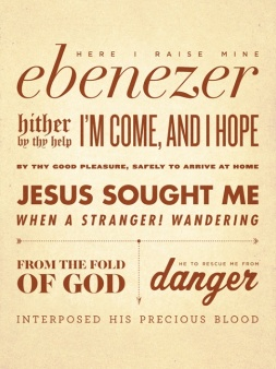 Come Thou Fount Here I raise mine Ebenezer