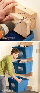 Pinterest recycling bin idea