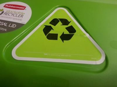 crooked recycle sticker