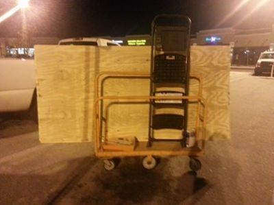 loaded home depot cart