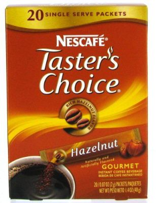 tasters choice hazelnut instant coffee