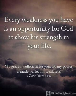 2 Corinthians 12 9 His Grace is Sufficient in My Weakness