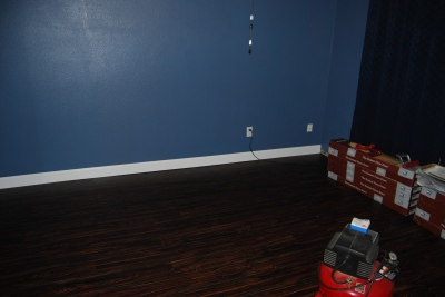 game room new baseboards