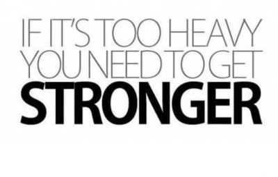 If its too heavy you need to get stronger