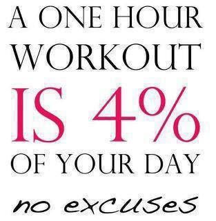 a one hour workout is 4 percent of your day