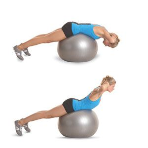 Back Extension on Fitness Ball