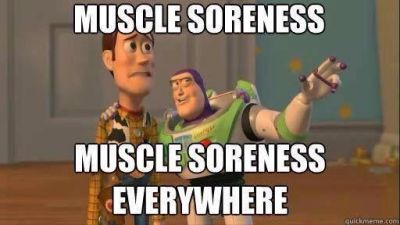 Buzz and Woody Muscle Soreness Everywhere fitness