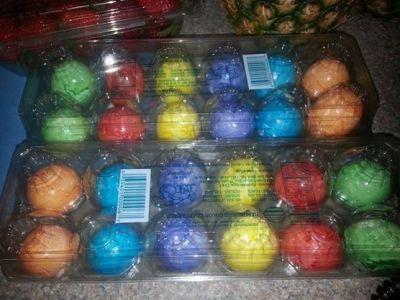 pre dyed Easter eggs dontjudgeme