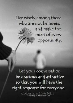 Live wisely make the most of every opportunity