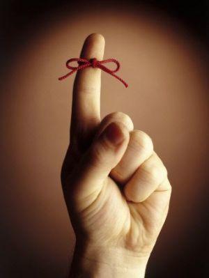 reminder - string on your finger
