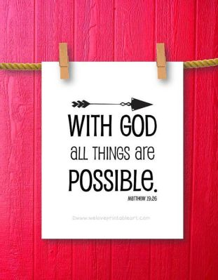 Matthew 19 26 With God all things are possible
