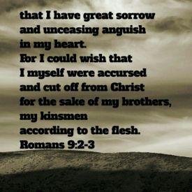 Romans 9 2-3